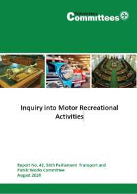 Report of the Inquiry into Motor Recreational Activities
