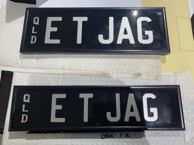 ET JAG Personalised plates